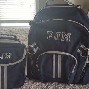 Pottery Barn Kids Boy's Large Backpack & Lunchbag